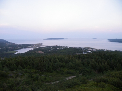 Witless Bay at sunset, looking east from atop The Tolt.