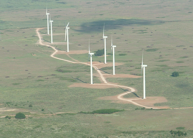 turbines fragmenting bluestem grassland, Oklahoma