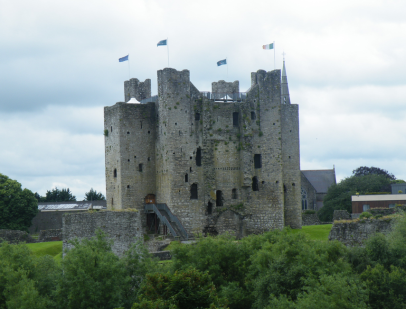 Trim Castle, known to most these days as the site where Longshanks threw his son's boyfriend out a window.