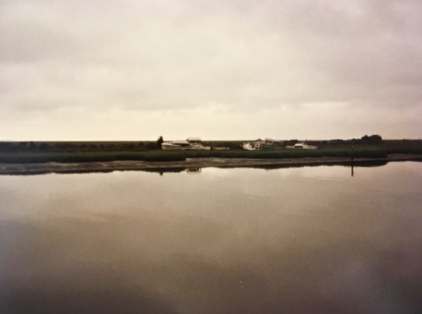 It is but a thin line that separates sky from sea along the innumerable tidal creeks on Virginia's Eastern Shore.
